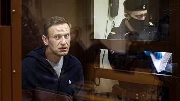 Na zdjęciu Aleksiej Nawalny w sądzie. Rosyjska opozycja zapowiedziała protesty w jego sprawie