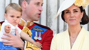 Księżna Kate, książę William z synem Louisem