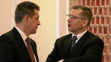 Były minister sprawiedliwości i szef NIK Krzysztof Kwiatkowski (po prawej) i lider PSL Jan Bury