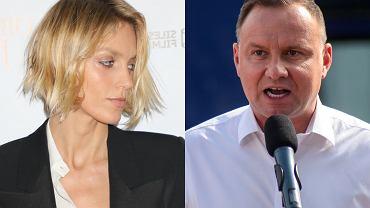 Anja Rubik i Andrzej Duda