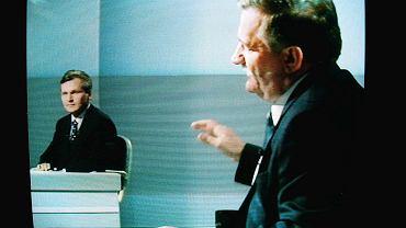 Rok 1995. Debata Aleksandra Kwaśniewskiego z Lechem Wałęsą