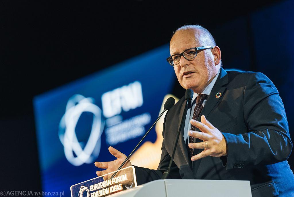 Wiceprzewodniczący Komisji Europejskiej Frans Timmermans