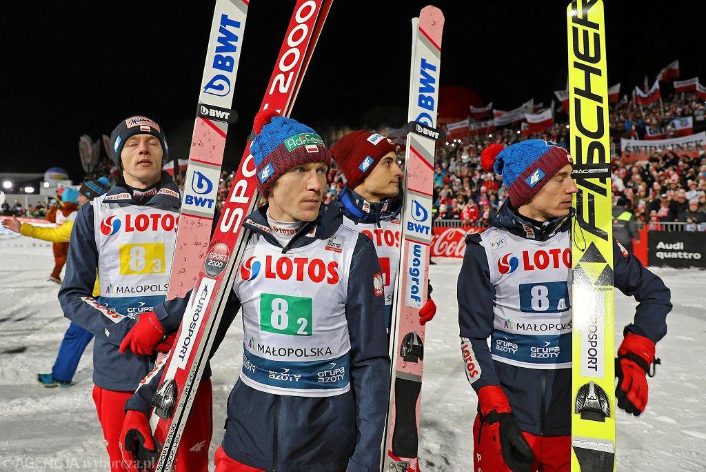 Kamil Stoch, Dawid Kubacki, Stefan Hula i Maciej Kot