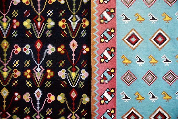 Mołdawia, dywan w ośrodku rękodzieła wCli?ova Noua