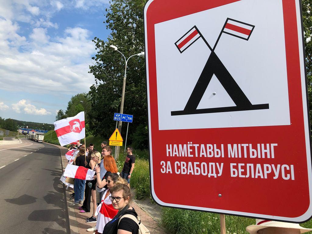Akcja Białorusinów mieszkających w Polsce oraz wspierających ich Polaków w pobliżu polsko-białoruskiego przejścia granicznego Bobrowniki - Bierestowica.