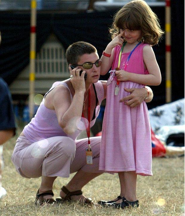 Sinead O'Connor i jej córka Roisin