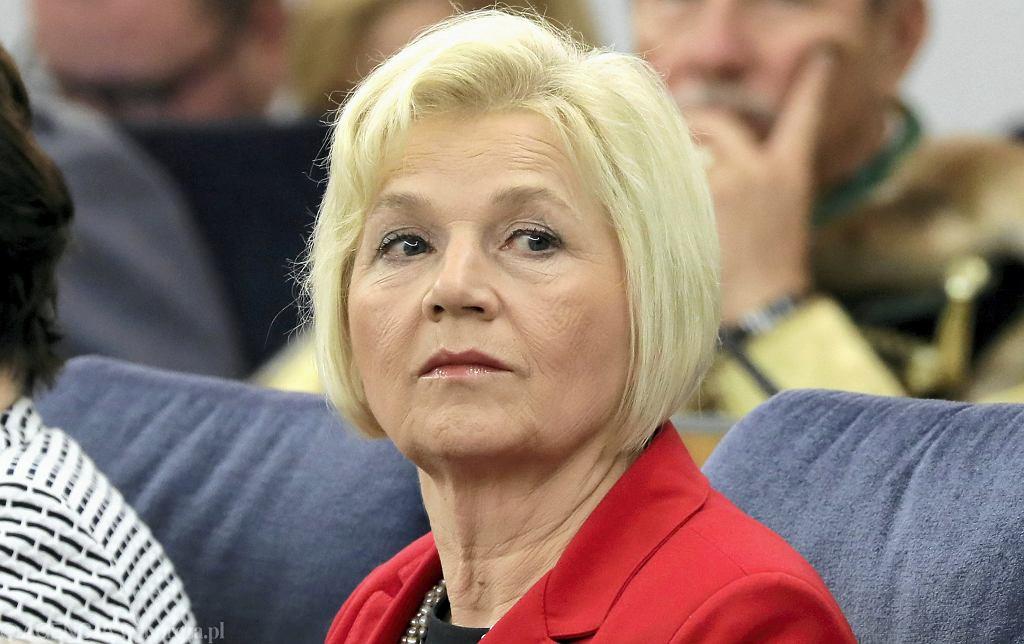 Lidia Staroń podczas posiedzenia Senatu