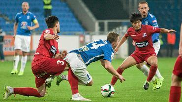 Lech Poznań - Podbeskidzie Bielsko-Biała 0:1. Maciej Gajos, Kohei Kato
