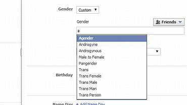 Zamiast dwóch terminów określających płeć, użytkownicy anglojęzycznego Facebooka mają ich od dziś 56