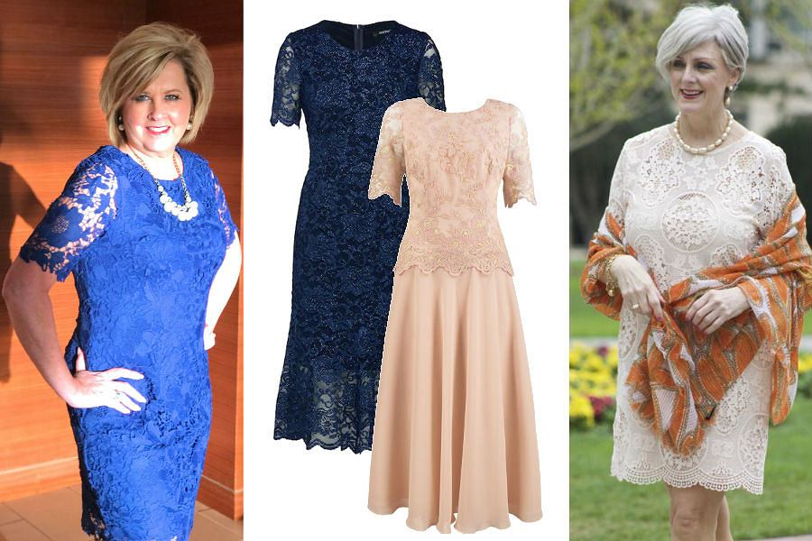 454429bcff Sukienki na wesele dla 60 latki to między innymi eleganckie modele wykonane  z koronki