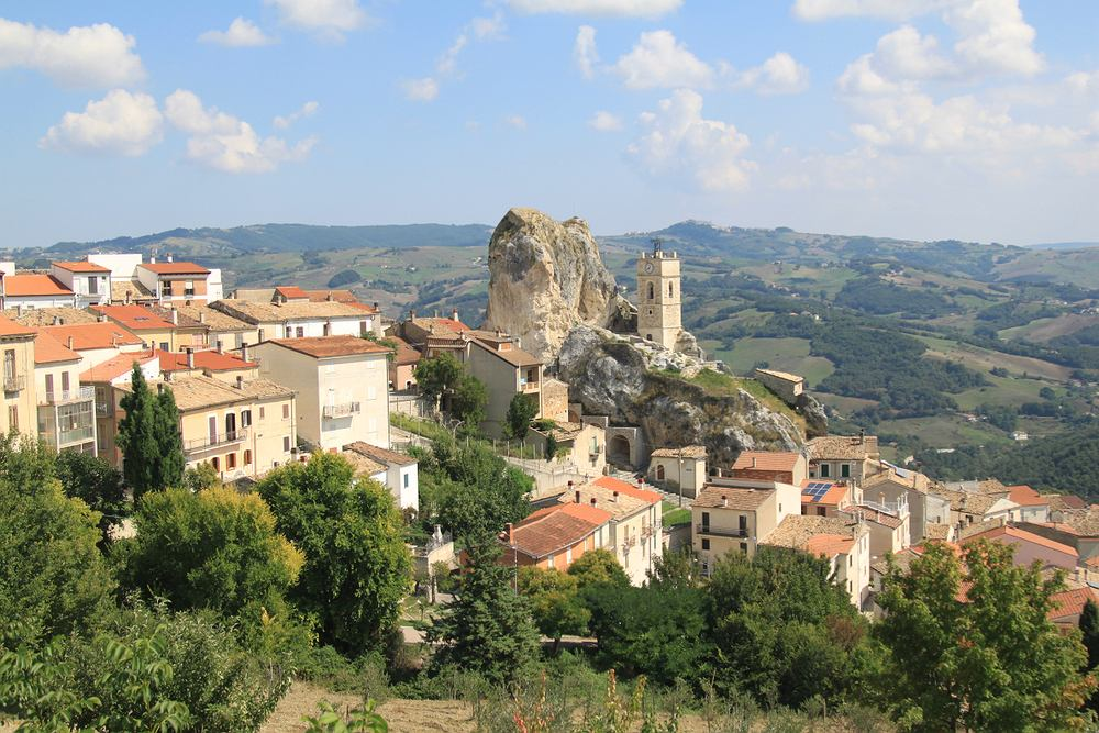Miejscowość Pietracupa w prowincji Campobasso w regionie Molise
