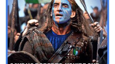 Okładka szkockiego The National przed finałem Euro 2020