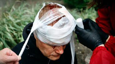 Ofiara walk na ulicach Mińska, 11 października 2020 r.