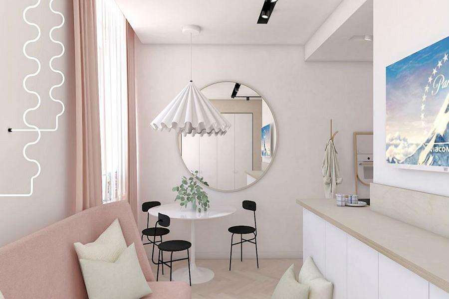 Okrągłe lustro to doskonała dekoracja w salonie