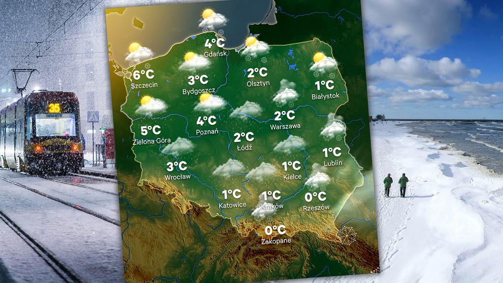 Prognoza pogody na weekend 4-6 stycznia. Czeka nas pogodowa 'huśtawka'