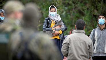 Migranții la granița poloneză-bielorusă din Osnaz Gornji