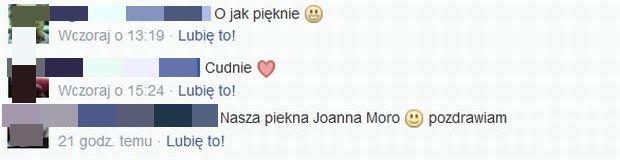 Komentarze pod wpisem Joanny Moro