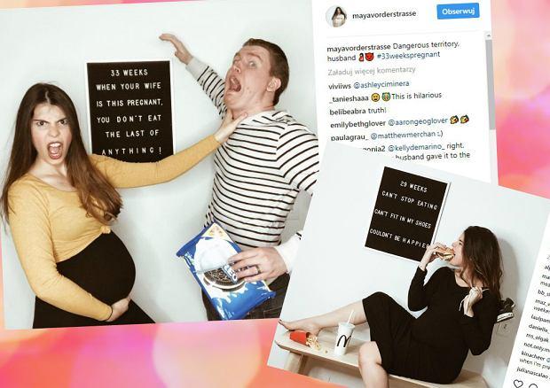 Mama udokumentowała ciążę na zabawnych zdjęciach. Każda ciężarna przechodzi przez to, co ona
