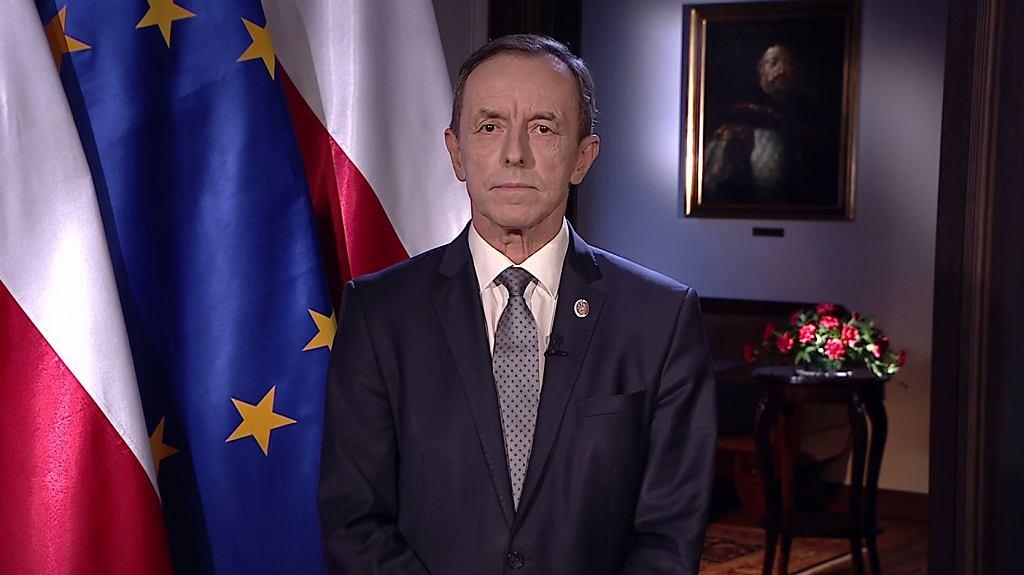Marszałek Senatu Tomasz Grodzki w telewizyjnym orędziu