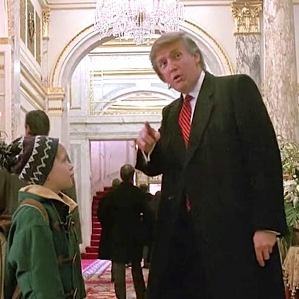 Macaulay Culkin i Donald Trump w filmie 'Kevin sam w Nowym Jorku'.