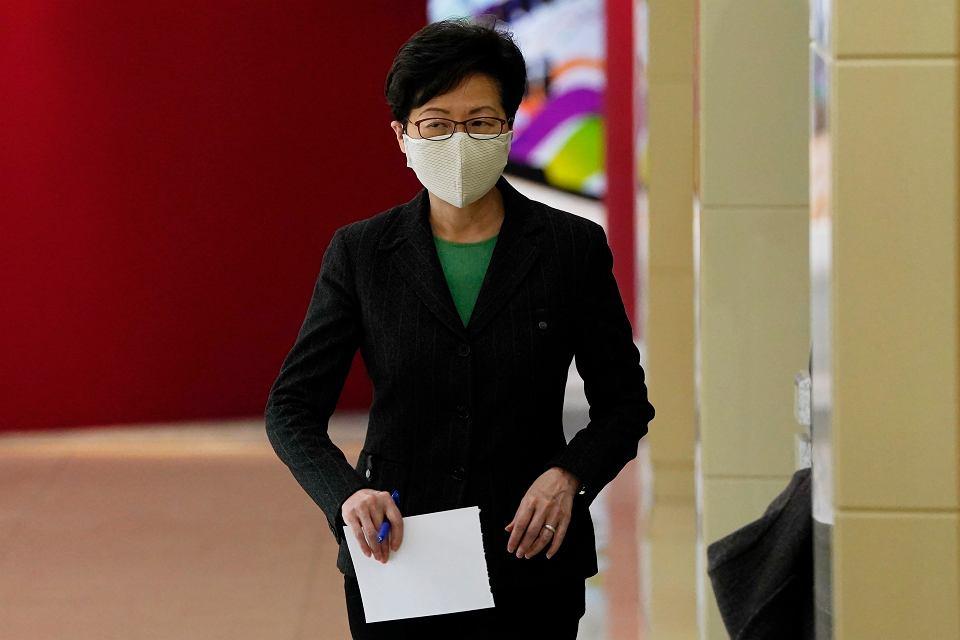 Szefowa autonomii Hongkongu Carrie Lam podczas wizyty w Pekinie, 6 listopada 2020 r.