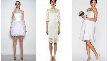 Krótkie fasony sukien ślubnych