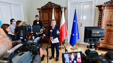 Konferencja marszałka woj. małopolskiego