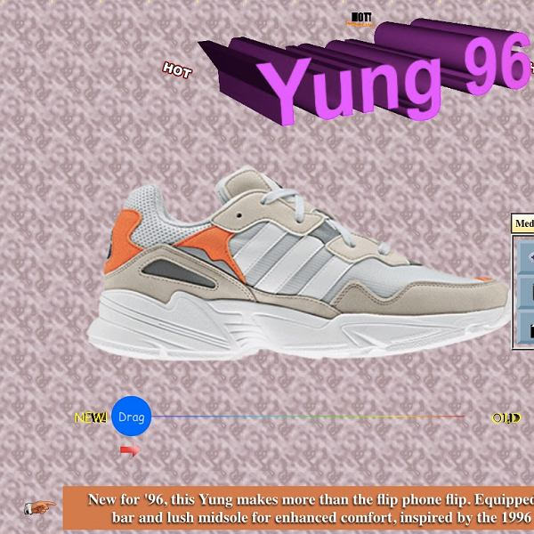 Wehikuł czasu Adidasa. Strona poświęcona butom z serii Yung