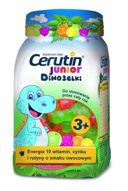 Cerutin Junior Dinożelki z witaminami, cynkiem i rutyną