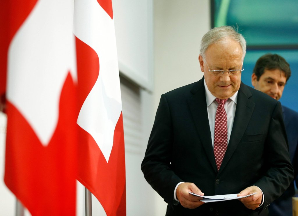 xSwiss President Schneider-Ammann arrives for a media conference after Britains vote to leave the European Union in Bern
