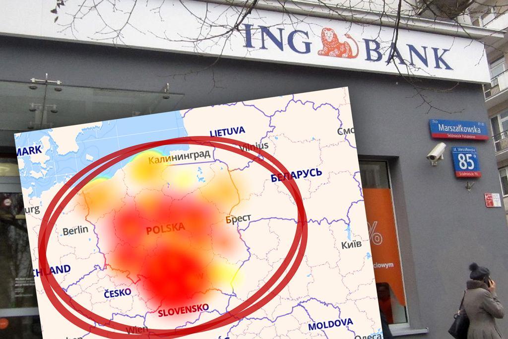 Awaria w banku ING