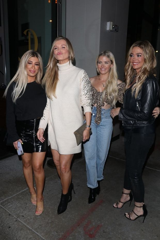 West Hollywood, CA  - Joanna Krupa and Denise Richards pose for pictures after dinner together at Catch in West Hollywood.    Pictured: Denise Richards, Joanna Krupa    BACKGRID USA 15 JANUARY 2020     BYLINE MUST READ: Sifu Bruce Lee / BACKGRID    USA: +1 310 798 9111 / usasales@backgrid.com    UK: +44 208 344 2007 / uksales@backgrid.com    *UK Clients - Pictures Containing Children  Please Pixelate Face Prior To Publication*
