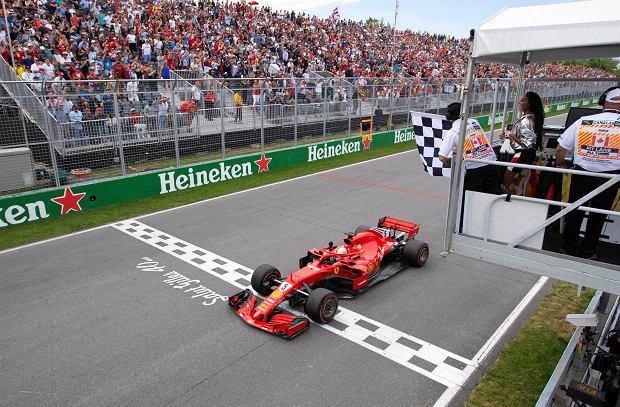 F1. Falstart z flagą. GP Kanady skrócone o dwa okrążenia. Vettel się bał, modelka bez winy