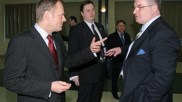 Donald Tusk i Jacek Saryusz-Wolski, 2008 r.