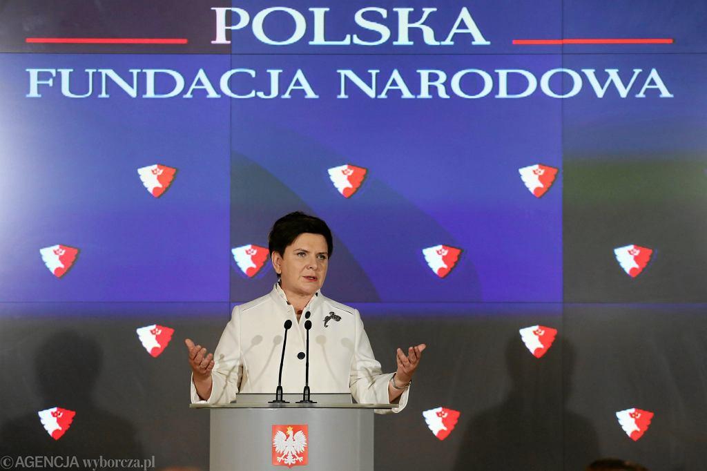 Konferencja prasowa Beaty Szydlo