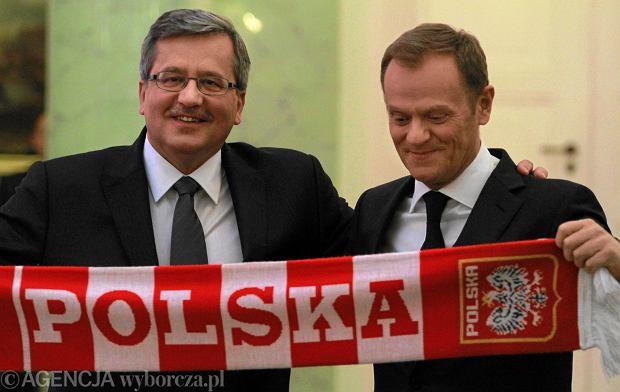 Donald Tusk, Bronisław Komorowski