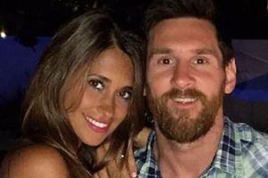 Leo Messi z żoną Antonellą