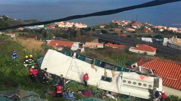 17.04.2019, Canico, Madera, katastrofa autokaru z niemieckimi turystami w której zginęło 28 osób.