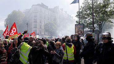 Francja. Protest żółtych kamizelek w Paryżu