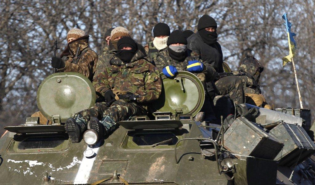 Siły ukraińskie w okolicach Debalcewego