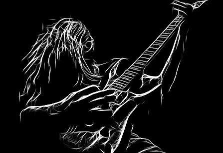 Gitarzysta heavymetalowy