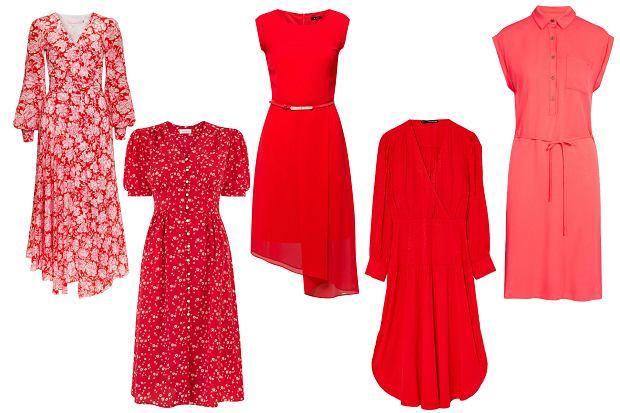 Czerwone sukienki z wiosenno-letnich kolekcji