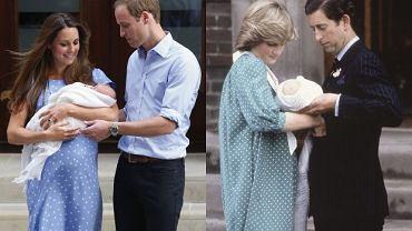 Księżna Kate i książę William/ Księżna Diana i książę Karol