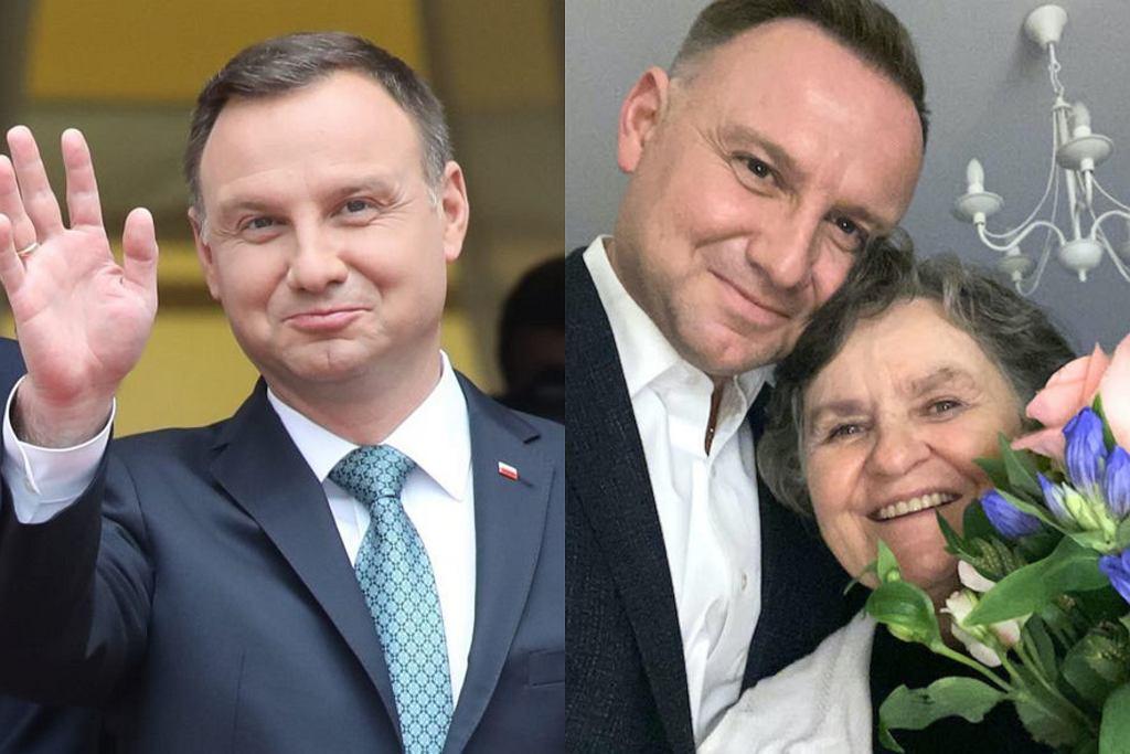Andrzej Duda z mamą