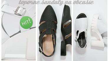 Toporne sandały na obcasie- super wygodne i modne buty tego seozonu