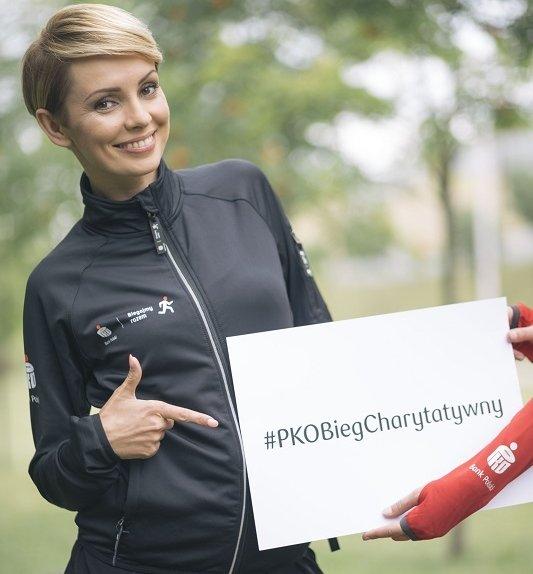 Dorota Gardias wspiera PKO Bieg Charytatywny