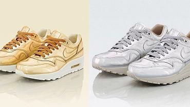 Nike Air Max 1 Liquid Metal and Liquid Gold
