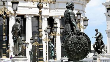Macedonia Północna. Pomniki w Skopje