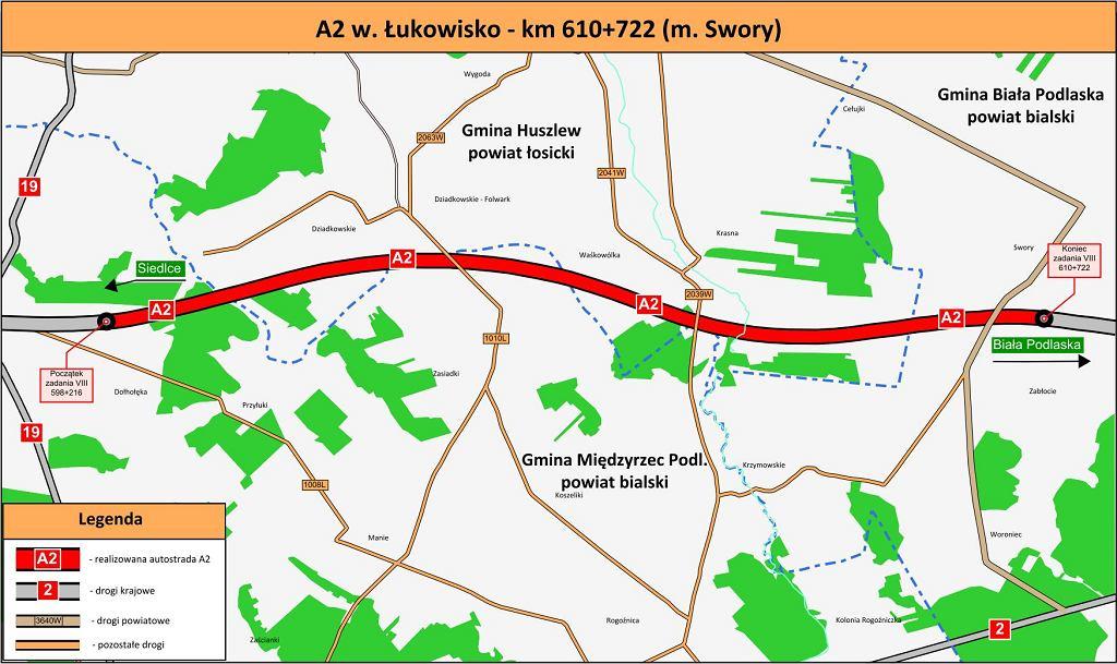 Autostrada A2, Łukowisko - Swory