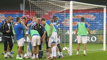 Trening Lecha Poznań przed meczem z AIK Solna